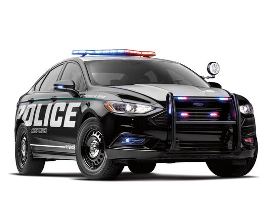 Ford's latest vehicle for folks in blue is the Police Responder Hybrid Sedan, which is a modified 2019 Fusion Hybrid five-seater.