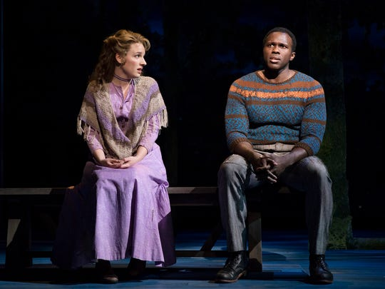 Jessie Mueller, left, and Joshua Henry in a scene from