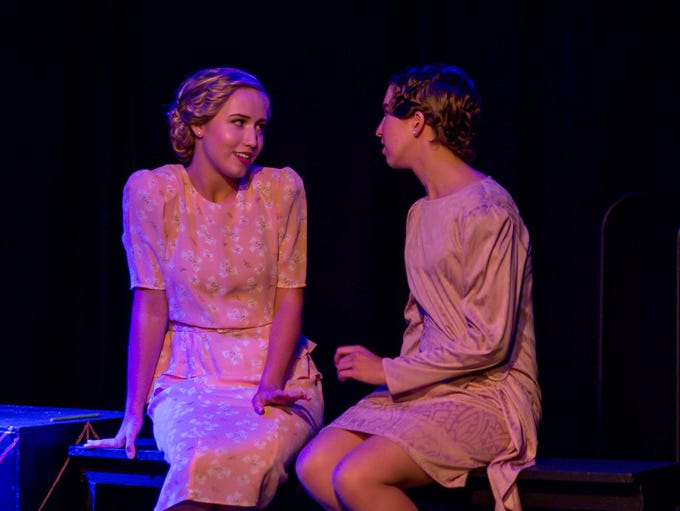 Payton Robinson, 16, portraying Daisy Buchanan, left,