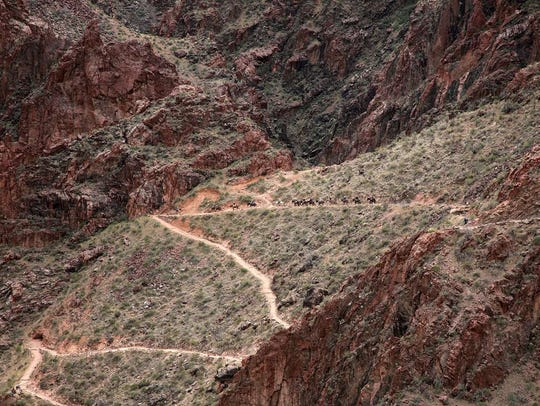 South Kaibab Trail at Grand Canyon.