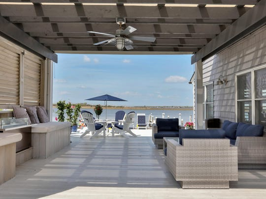 Enjoy your outdoor oasis with your private pergola with a ceiling fan.