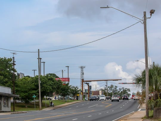 New LED street lights went up around West Cervantes and M streets on June 12, 2018, after a woman and a baby were killed earlier that month by a hit-and-run driver as they were crossing West Cervantes Street.
