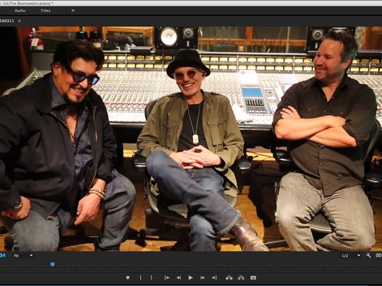 Teddy Andreanis (from left), Billy Bob Thornton and J.D. Andrew write and record together as The Boxmasters.