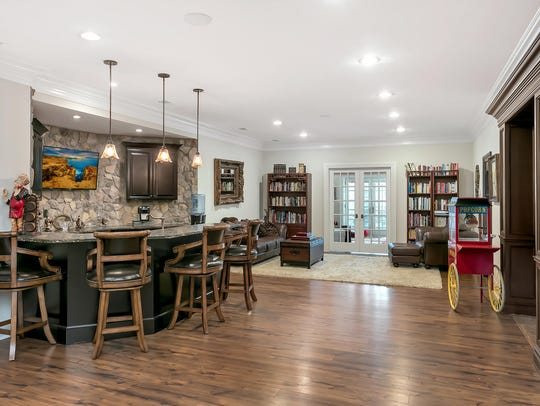 The lower level offers a full finished 2244 square-foot basement.