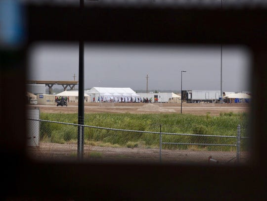 The tent city erected to house children separated from