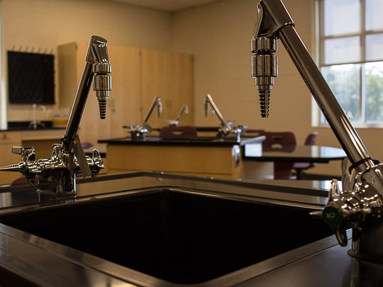 A chemistry lab in the new Collierville High.