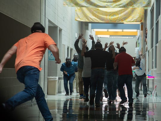 Educators take part in active shooter training in Pflugerville