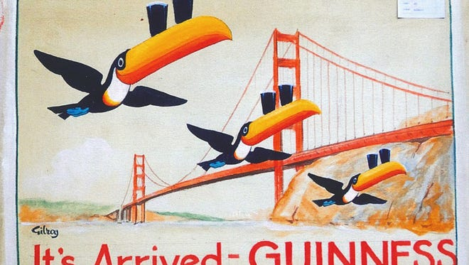 A Guinness advertisement drawn by English artist John Gilroy.