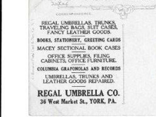 Advertising message on the back of the postcard.