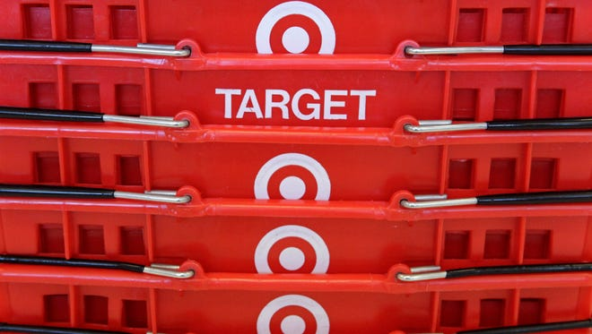 Shopping baskets at a Chicago area Target store.