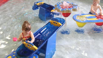 Little ones can play with the water table.