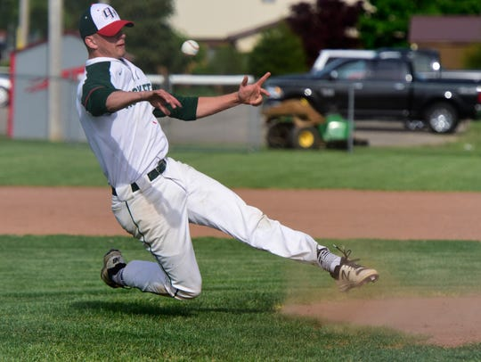 Oak Harbor's Aric McAtee is a pitcher on the News-Messenger's team.