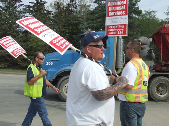 There were picket lines at the Arbor Hills landfill