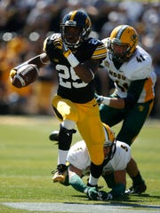 Iowa running back Akrum Wadley is second on the team in all-purpose yards through five games, picking up 309 yards rushing and 93 receiving.