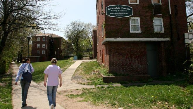 Riverside Terrace housing complex in Paterson's 3rd Ward.