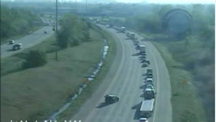 Traffic on eastbound I-94 is backed up due to a crash on the freeway near the Southfield Road exit.