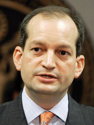 Trump's new pick for Labor secretary, Alexander Acosta, is shown in this 2008 file photo.