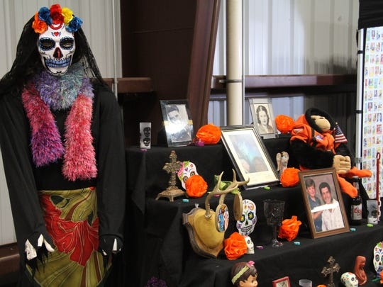 A Dia de los Muertos, or Day of the Dead, alter was displayed at the festival Saturday.