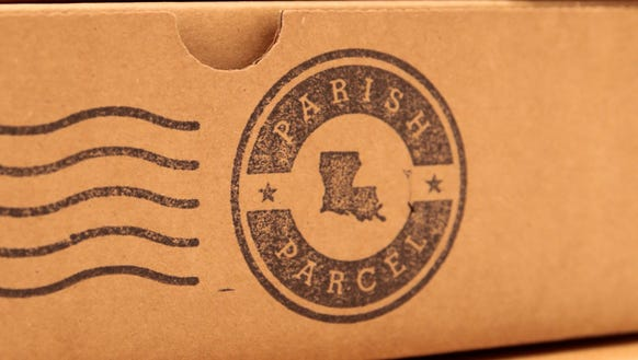 Parish Parcel's logo is stamped onto their boxes June