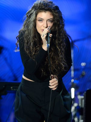 New Zealand singer-songwriter Lorde, who performed at a pre-Grammy gala Saturday, is up for record and song of the year.