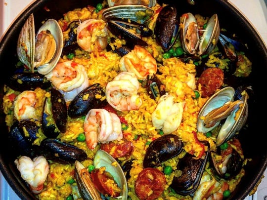 Paella from UGK Underground Kitchen.