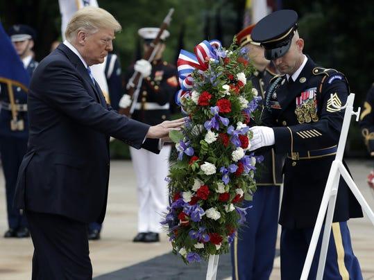 APTOPIX Trump Memorial Day