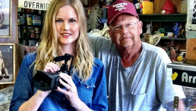 Kemberlee Bonnet with her father Charlie Bonnet, owner of Once Upon a Time Antiques in Vanleer.
