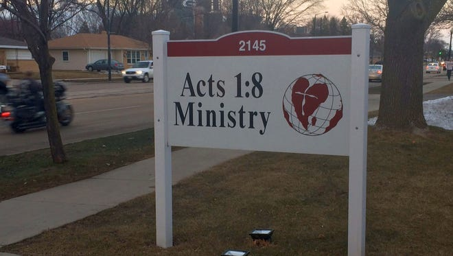 The Acts 1:18 Ministry office is visible on South Oneida Street in Ashwaubenon, not far from Lambeau Field.