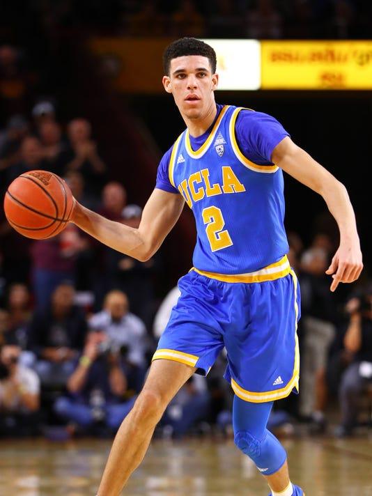 0ed20802031 USP NCAA BASKETBALL: UCLA AT ARIZONA STATE S BBC USA AZ. UCLA Bruins guard  Lonzo Ball ...