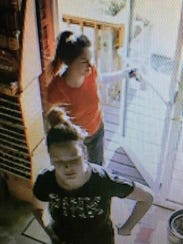 Suspects in the theft of a donation jar from Common