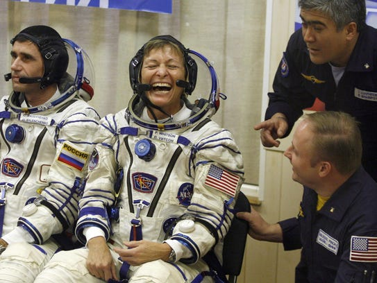 In this Wednesday, Oct 10, 2007 file photo, U.S. astronaut