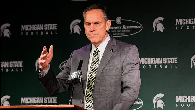 """MSU coach Mark Dantonio has little use for recruiting rankings. """"When I retire from here, I'm going to get a job at one of those places,"""" he said."""