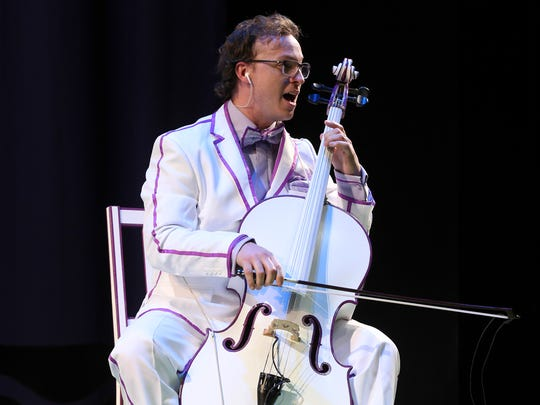 Cellist Ben Sollee performs as part of the Stage One production of Harold and the Purple Crayon a the Kentucky Center.