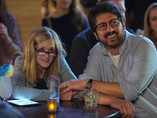 "Beth (Holly Hunter) and Terry (Ray Romano)  play the parents of young woman who is very ill in ""The Big Sick."""