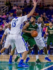 To get past Jacksonville at home on Saturday night, FGCU will need to again smother Dolphins forward JR Holder, who leads his team with an 18-point average.