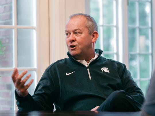 Michigan State athletic director Mark Hollis talks about his life Aug. 20, 2015.