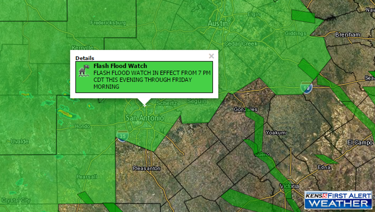 Flash Flood Watch in effect at 7 p.m.
