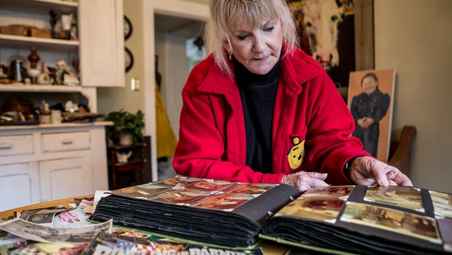 """Sharon Sellitto flips through albums and scrapbooks containing memories of her time in the Ringling Brother Circus as a showgirl. Dubbed """"The Greatest Show on Earth,"""" the circus is  performing its last shows this year."""