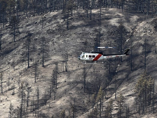 Monday, Oct. 17: A Nevada Division of Forestry helicopter