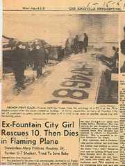 A Knoxville News Sentinel clipping from Jan. 15, 1951,