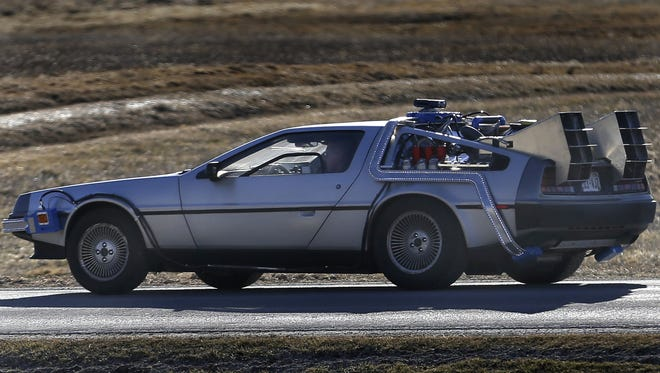 "Matt Hissem draws a lot of double takes when he drives his 1981 DeLorean in the Fox Cities. It's created as a replica of the time machine from the ""Back to the Future"" films."