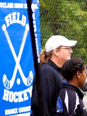 Coach Mary Pat Mercuro has 346 victories in 22-plus seasons leading Montclair field hockey.
