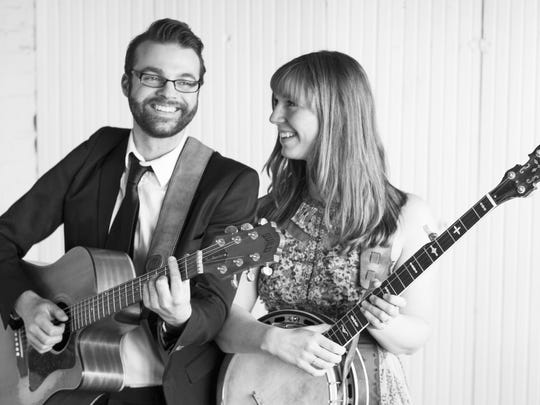 Nick Hoover and Jess Holland are Deathfolk, playing Feb. 20 in a Coffeehouse Concert in the Fireside Lobby at Door Community Auditorium.