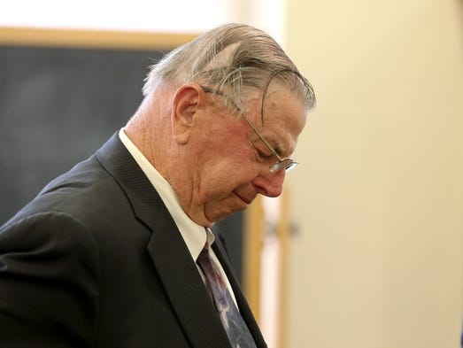 Henry Rayhons becomes emotional after the judge read