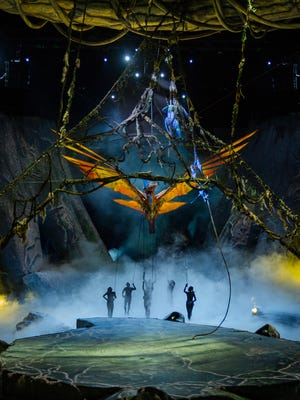 """""""Toruk: The First Flight"""" uses puppetry and cutting-edge visuals to create the creatures of James Cameron's Pandora"""