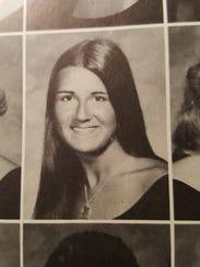 Yearbook photo of Judy DeRango Wicks, a graduate of Naples High.