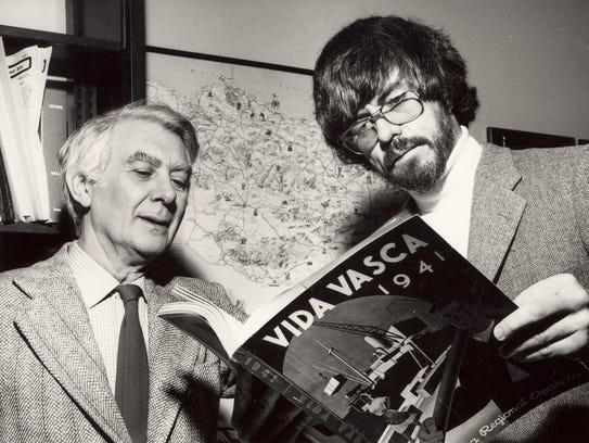Jon Bilbao, left, and Bill Douglass founded the Center
