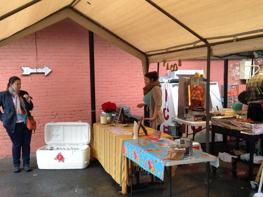 Justin Hershey's Chicano Boy Taco stand behind Redbeard Brewing Company in Staunton.