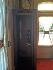 This phone booth at the Union Hotel and Restaurant in De Pere is the hotel's most photographed spot, according to owner McKim Boyd.