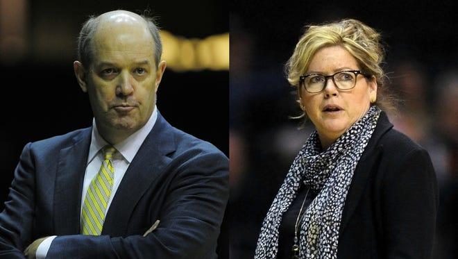 Vanderbilt men's basketball coach Kevin Stallings and women's basketball coach Melanie Balcomb.